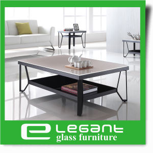 Long Stainless Steel Coffee Table with Tempered Glass Top pictures & photos
