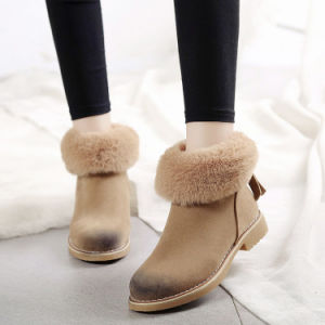Autumn Leisure with Low Heel Round Toe Warm Cotton Fashion Girls Snow Boots pictures & photos