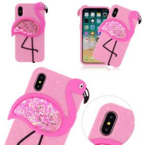 New Design Quicksand Silicone Flamingo Phone Case for iPhone 6/6s/7plus/X/8plus pictures & photos