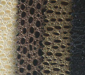 PVC Shinny Leather with Beautiful Pattern pictures & photos