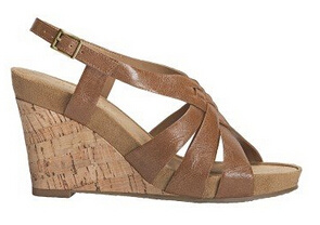 Faux Leather Wedge Style Sandals with Heel Sling Strap pictures & photos