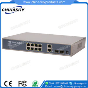 8 Port Poe Switch with 2 SFP 2 Ge Full Gigabit Poe Switch (POE0822SFPB-3) pictures & photos