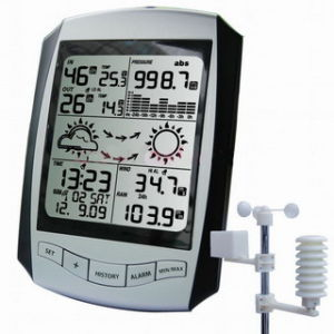 Weather Station with Rcc Clock AW001 - China Weather Station