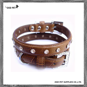 Bling Crystals Croc Dog Collar and Lead Set (SPC7075) pictures & photos