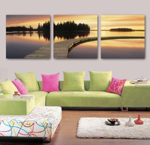3 Piece Modern Wall Art Printed Painting Landscape Painting Room Decor Framed Art Picture Painted on Canvas Home Decoration Mc-241 pictures & photos