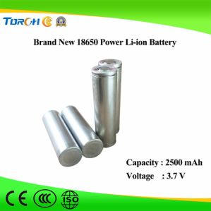 Rechargeable Lithium Battery 3.7V 2500mAh Li Ion 18650 Battery Pack pictures & photos