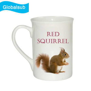 Sublimated Coffee Curled Rim Mug 10oz with Low Price pictures & photos