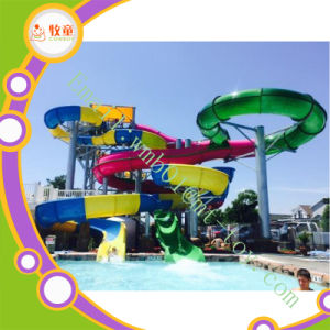 Private Swimming Pool Fiberglass Spiral Water Slide for Sale pictures & photos