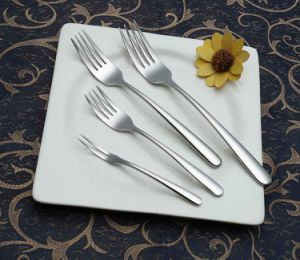 High-Class 304 /18-10 Mirror Polished Stainless Steel Fork (C032) pictures & photos
