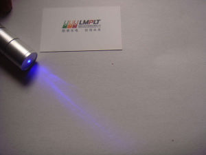 Silvery White Focusing 1W Pure Blue Laser Pointer with Telescopic Head