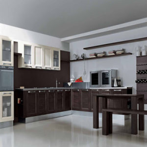 New Design Solid Wood Waterproof Ready Made Kitchen Furniture pictures & photos