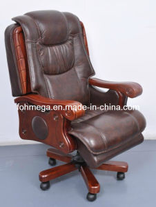 Wood Frame Genuine Leather Executive Office Chair (FOH-B108) pictures & photos