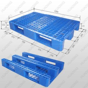 1200*800 Heavy Duty, 3 Runners Plastic Pallet Plastic Pallet pictures & photos