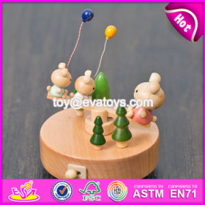 Best Design Cartoon Bear Wooden Baby Toy Music Box W07b045 pictures & photos