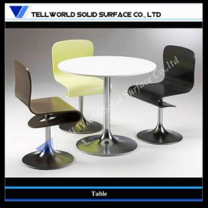 Round Marble Top Stainless Table Leg Pub Bar Table, Night Club Table and Chairs pictures & photos