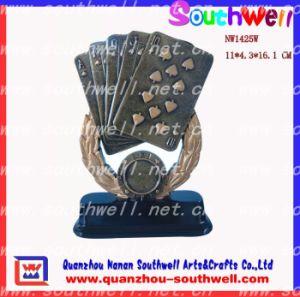 Polyresin Poker Trophy, Gambling Trophy (NW1425W)