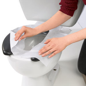Disposable Toilet Tissue Seat Cover Paper for Bathroom Accessories