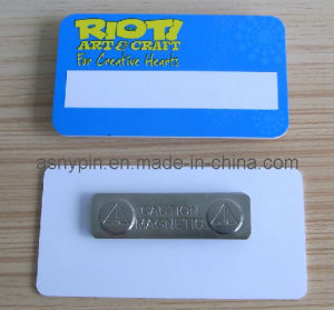 Custom Print Logo Plastic Namebadge Magnetic pictures & photos