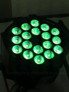 18 PCS RGBWA 5in1 LED PAR for Stage Dyeing Effect Light (HL-029A) pictures & photos
