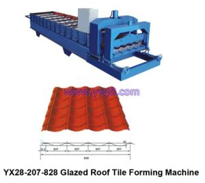 Standard Glazed Tile Roll Forming Machine (YX28-207-828)