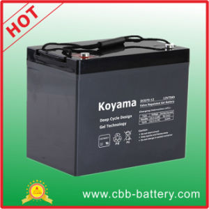 75ah 12V Sealed Deep Cycle Gel Storage Battery for Marine pictures & photos