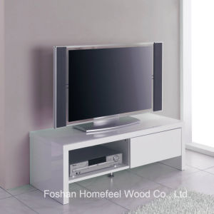 Sturdy Wooden White High Glossy TV Stand Cabinet (TVS29) pictures & photos