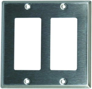 2-Gang Decora/GFCI Device Decora Wallplate, Stainless Steel pictures & photos