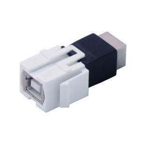 USB Keystone Jack - B-B Female, Flush Type (ZNKS-I13)