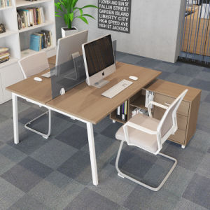 Modern Furniture Two Person Office Desk With Drawer For Office Workstation