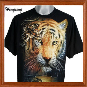 Fashion Short Sleeve and Round Neck Black 3D T- Shirts pictures & photos