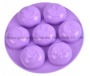 Round Smile Face Eco-Friendly Silicone Soap Mould Si22 pictures & photos