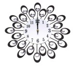 European High-Grade Flower Quiet Bedroom Wall Clock pictures & photos