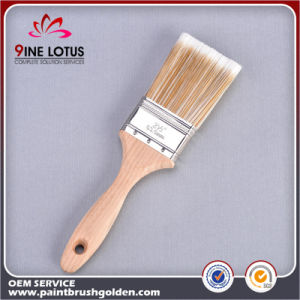 High Quality Soft PBT&Pet Material Double Color Wooden Handle Paint Brush pictures & photos