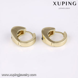 24829 Fashion 14k Gold Black Stone Women Earring in Brass Alloy pictures & photos