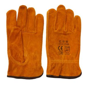 Cow Skin Labor Protective Safety Hand Working Driver Gloves pictures & photos