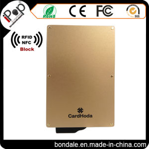 Rose Gold Credit Card Protector Aluminum RFID Blocking Secure Case pictures & photos