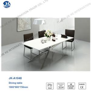 2016 Nordic Minimalism Metallic High Gloss Square Dining Furniture