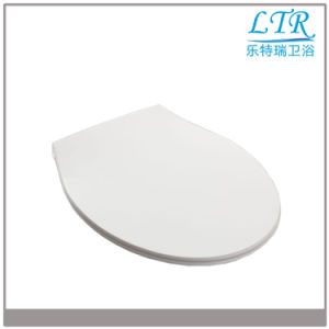 White Uinversal Standard Soft Close UF Toilet Seat Cover pictures & photos