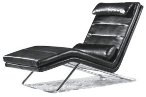 Modern Steel Metal Base Fabric Upholstery Leisure Chair (HX-S0015) pictures & photos