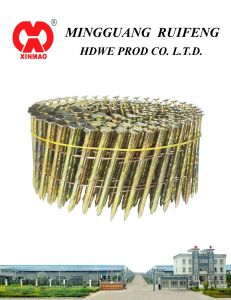 "Round Head, Flat Type, 2-1/2"" X. 099"", Ring Shank, Hot DIP Galvanized, 15 Degree Wire Collated Siding Nails, Coil Nail pictures & photos"