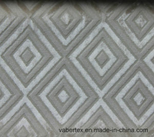 Woven Cut Velvet Sofa Textile Upholstery Polyester Fabric pictures & photos