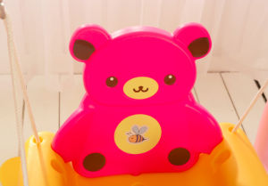 2017 Bear Style Cheap Home Plastic Baby Swing with Ce (HBS17022B) pictures & photos