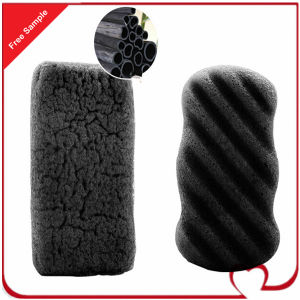 100% Pure Activated Bamboo Charcoal Body Cleaning Konjac Sponge with Factory Price pictures & photos