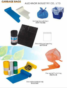 Black Recyclable Plastic Refuse Sack Waste Bag Bin Liner Can Liner Food Waste Bag Garbage Bag pictures & photos
