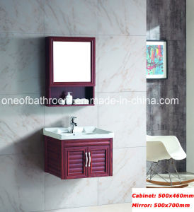Dark Brown Color Aluminum Material Bathroom Cabinets (8200) pictures & photos