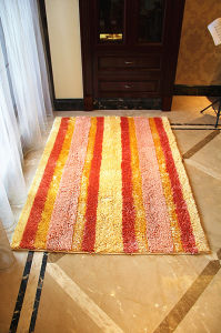 Shiny Chenille Living/Dining Room Door Mat Bath Set Area Rug pictures & photos