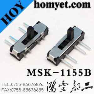 Mini Slide Switch for Mini Electric Device, Side Knob/Toggle Slide Switch (MSK-1155B) pictures & photos