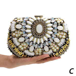 Luxury Rhinestone Handbag Crystal Clutch Purse Women Evening Bags Have 3 Size Eb784ABC pictures & photos