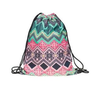 Polyester Drawstring Shopping Bag Backpack (YYDB045) pictures & photos