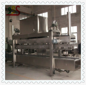 Advanced Design Automatic Continuous Fryer Frying Machine with Oil Filter System pictures & photos
